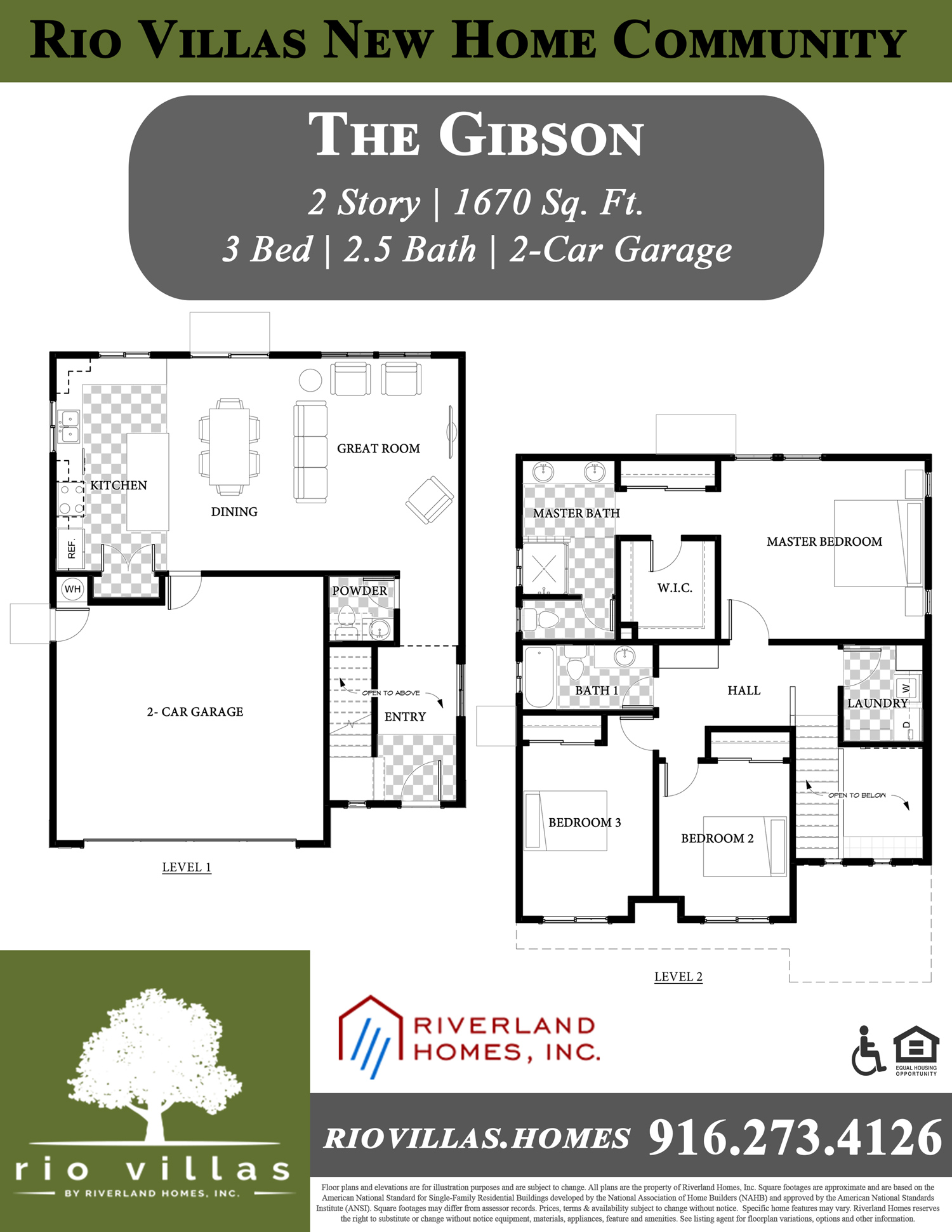 Riverland Homes Properties - Rio Villas - The Gibson